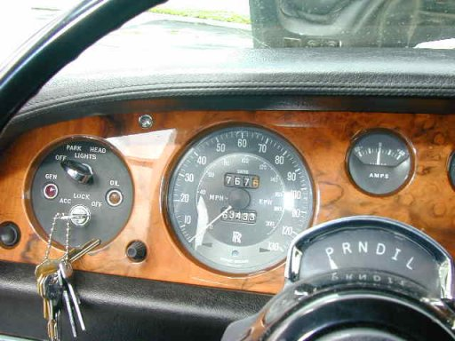 Rolls Royce Silver Shadow Dashboard