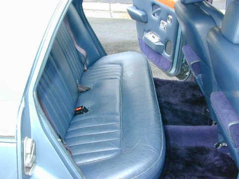 Back seats of an American Silver Shadow from 1974.
